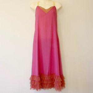 Nataya Age Of Love Tooled Flapper Midi Slip Dress